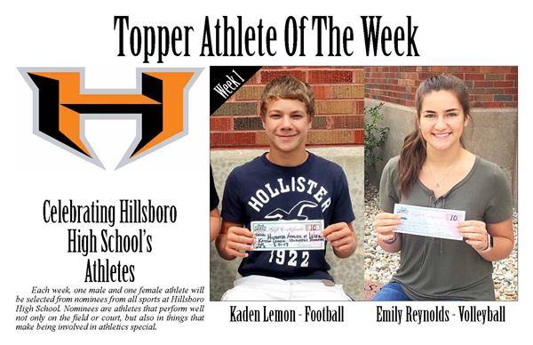 Topper Athlete of the Week